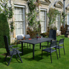 Image of Nardi Anthracite Libeccio Extending Table with 2 Darsena & 4 Bora Chair Set - Ruby's Garden Boutique