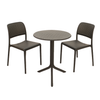 Image of Nardi Anthracite Step Table With 2 Bistrot Chair Set - Ruby's Garden Boutique
