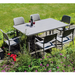 Nardi Turtle Dove Libeccio Extending Table with 6 Bora Chair Set - Ruby's Garden Boutique