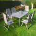 Nardi Turtle Dove Libeccio Table With 6 Darsena Chair Set - Ruby's Garden Boutique