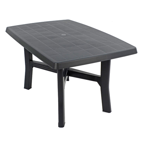 Trabella Taranto 4 Seater Garden Patio Table in Anthracite - Ruby's Garden Boutique