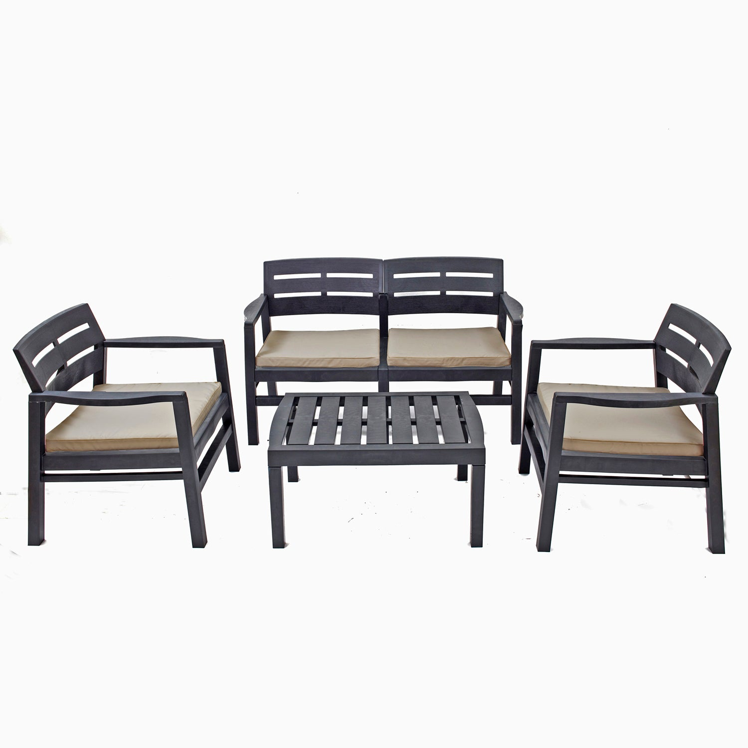 Trabella Venice Outdoor Garden Dining Set in Anthracite - Ruby's Garden Boutique