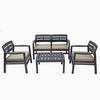 Image of Trabella Venice Outdoor Garden Dining Set in Anthracite - Ruby's Garden Boutique
