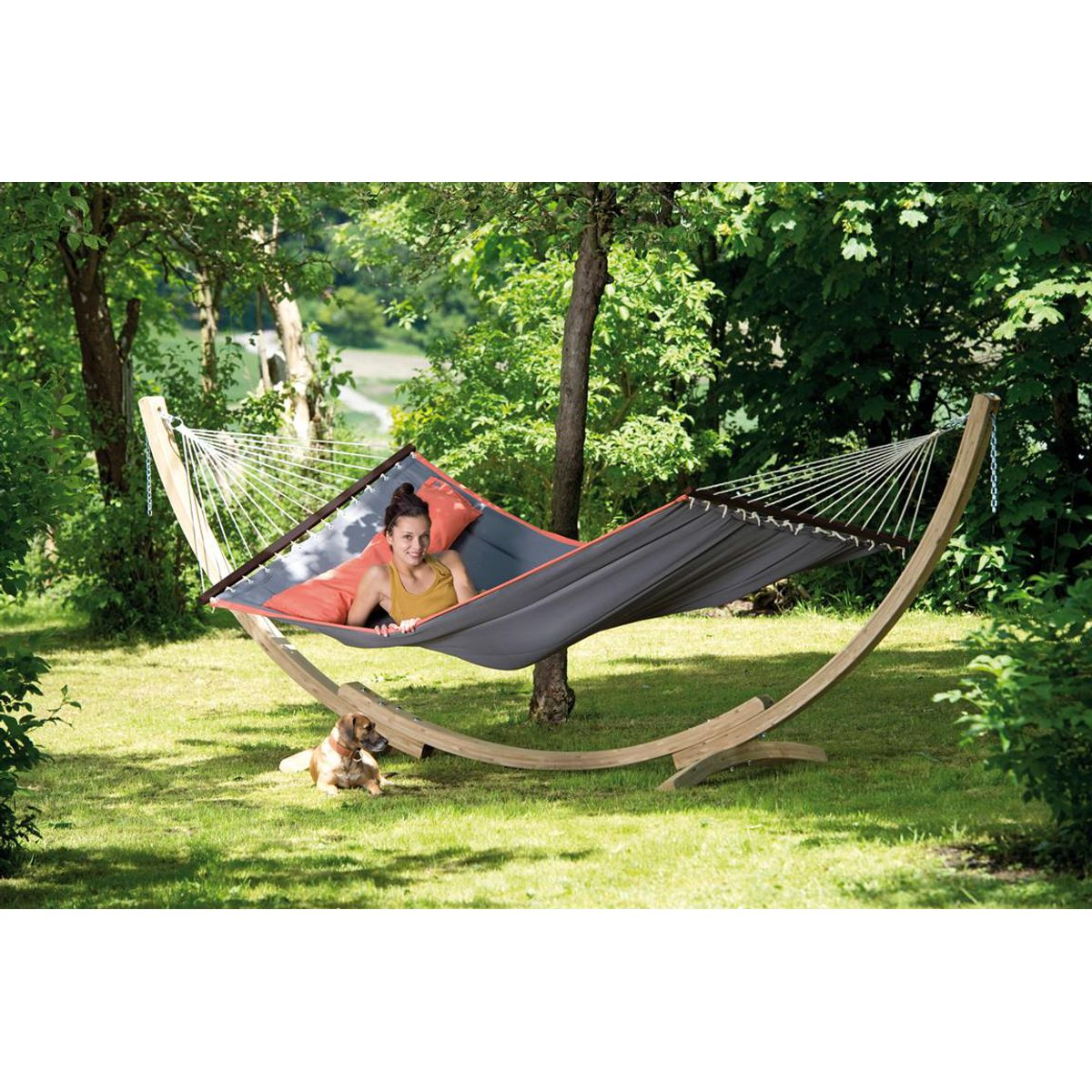 Amazonas Apollo Wooden Hammock Stand - Ruby's Garden Boutique
