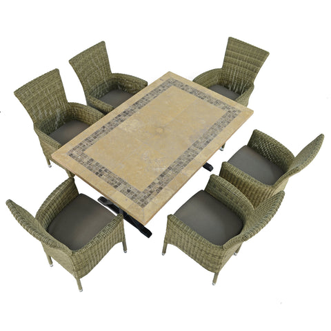 Byron Manor Charleston Dining Table With 6 Dorchester Chairs Set - Ruby's Garden Boutique