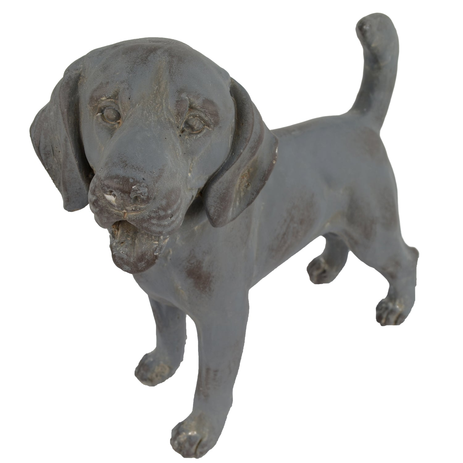 Solstice Sculptures Dog Standing 34cm Blue Iron Effect - Ruby's Garden Boutique