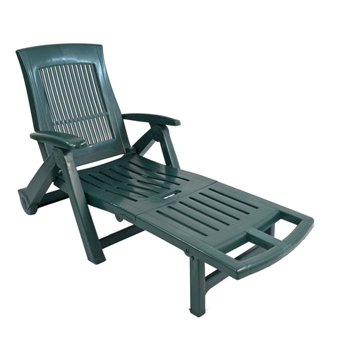 Trabella Potenza Plastic Sun Lounger in Green - Ruby's Garden Boutique
