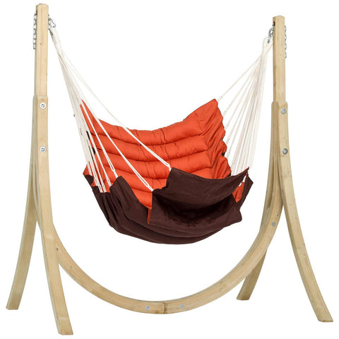 Amazonas Taurus Set Terracotta Hammock and Wooden Stand Set - Ruby's Garden Boutique