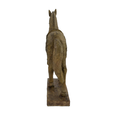 Elur Horse 39cm Carved Wood Effect Statue - Ruby's Garden Boutique
