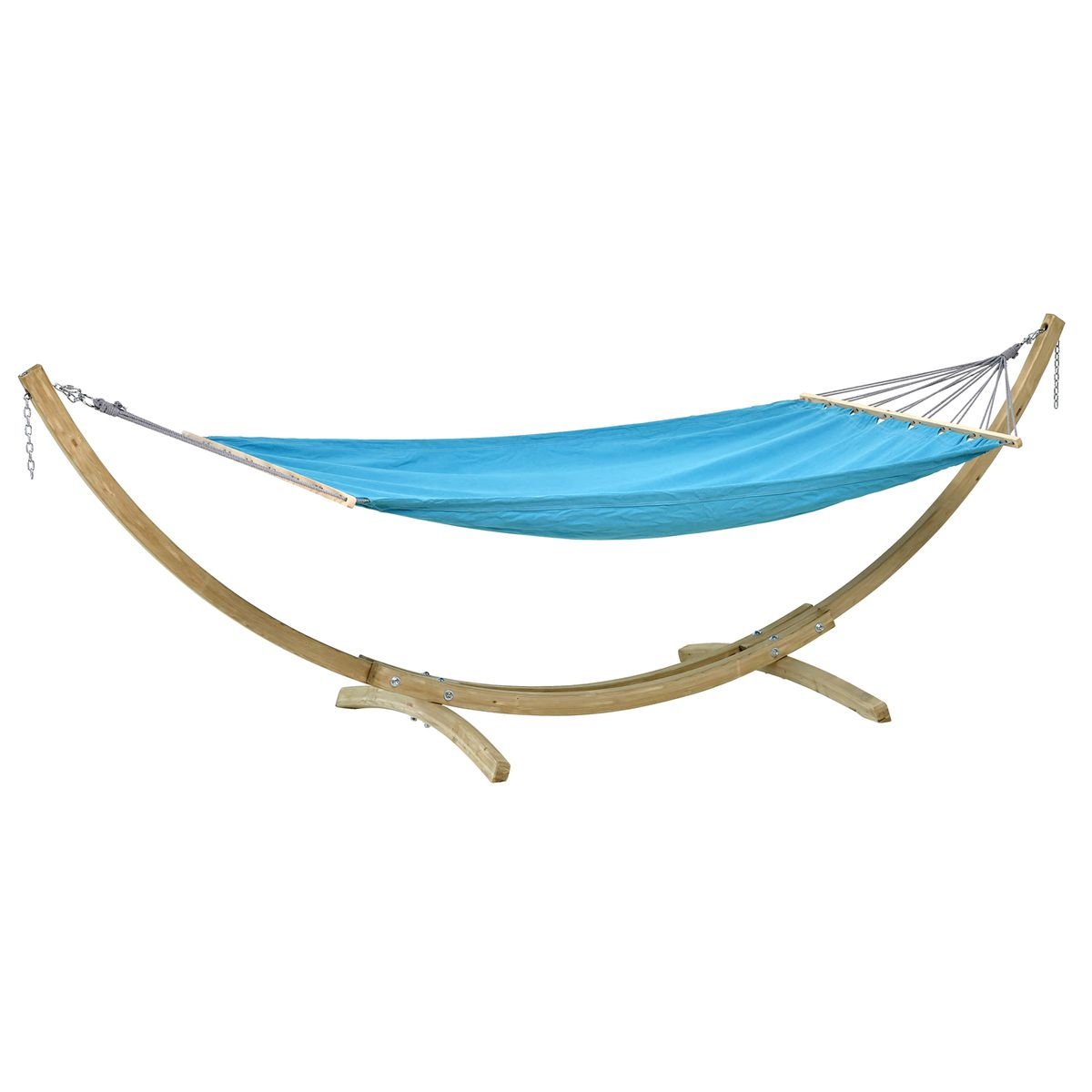Amazonas Miami Aqua Blue Hammock and Wooden Frame Set - Ruby's Garden Boutique