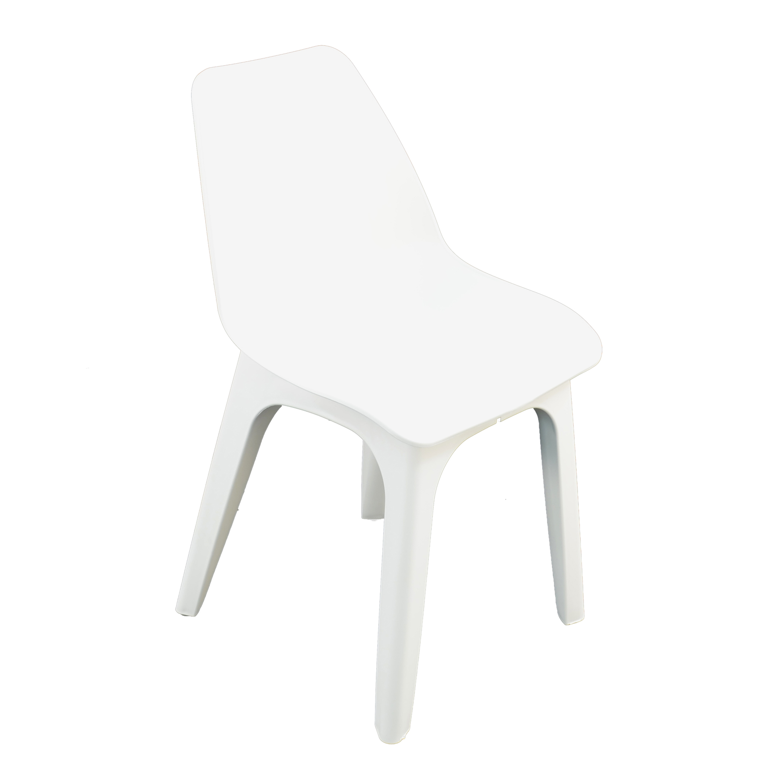 Trabella White Ponente Dining Table With 4 Eolo Chairs
