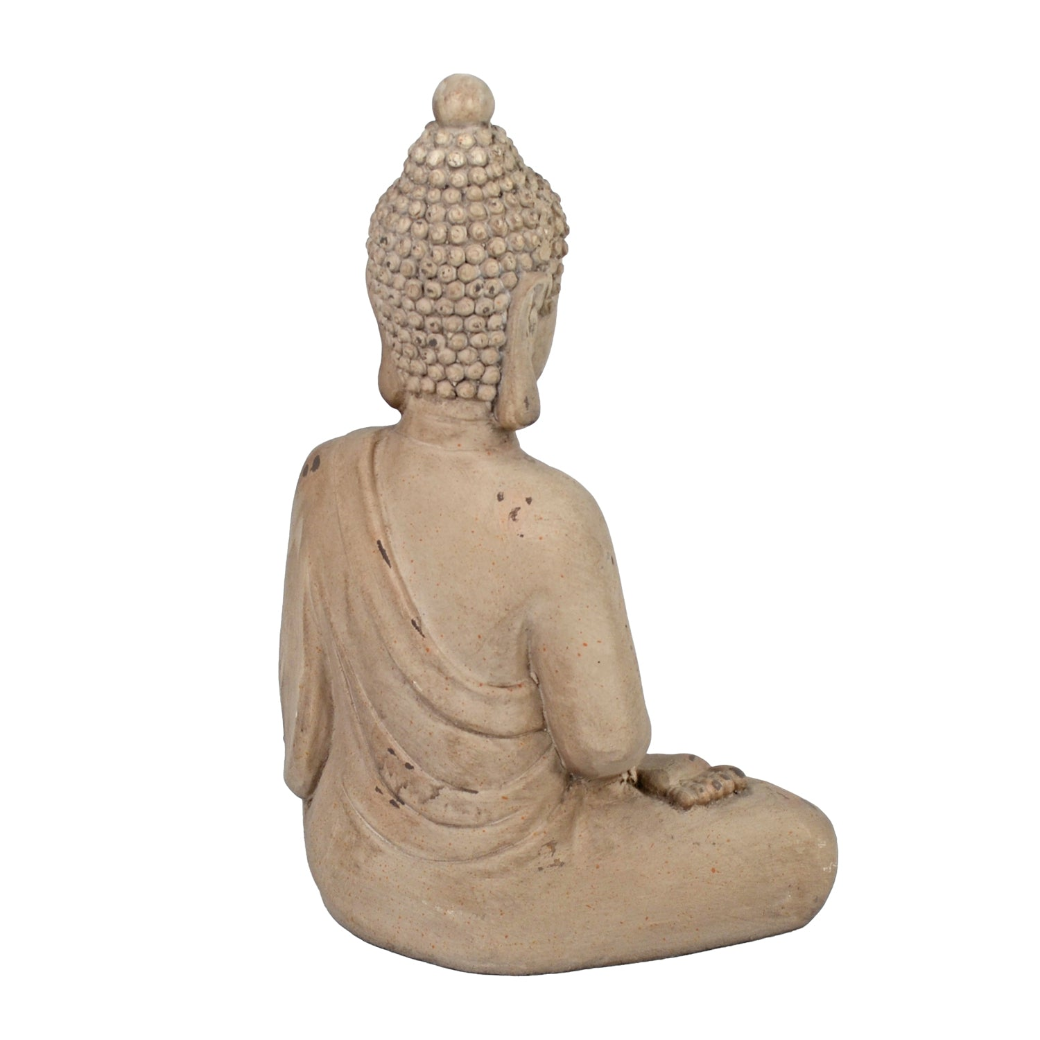 Solstice Sculptures Buddha Sitting 42cm Weathered Stone Effect - Ruby's Garden Boutique
