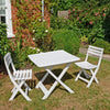 Image of Trabella Brescia Folding Table With 2 Brescia Chairs Set White - Ruby's Garden Boutique