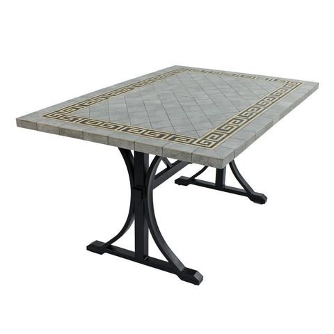 Byron Manor Burlington Ceramic Garden Dining Table - Ruby's Garden Boutique