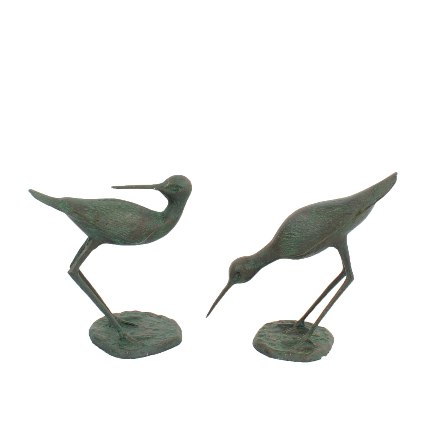 Solstice Sculptures Sandpipers Pair 31&29cm Aluminium Dark Verdigris - Ruby's Garden Boutique