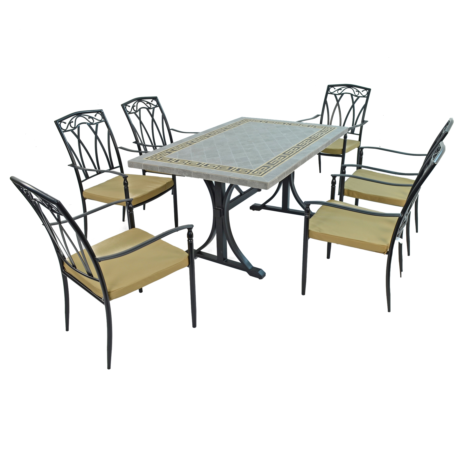 Byron Manor Burlington Dining Table With 6 Ascot Chairs