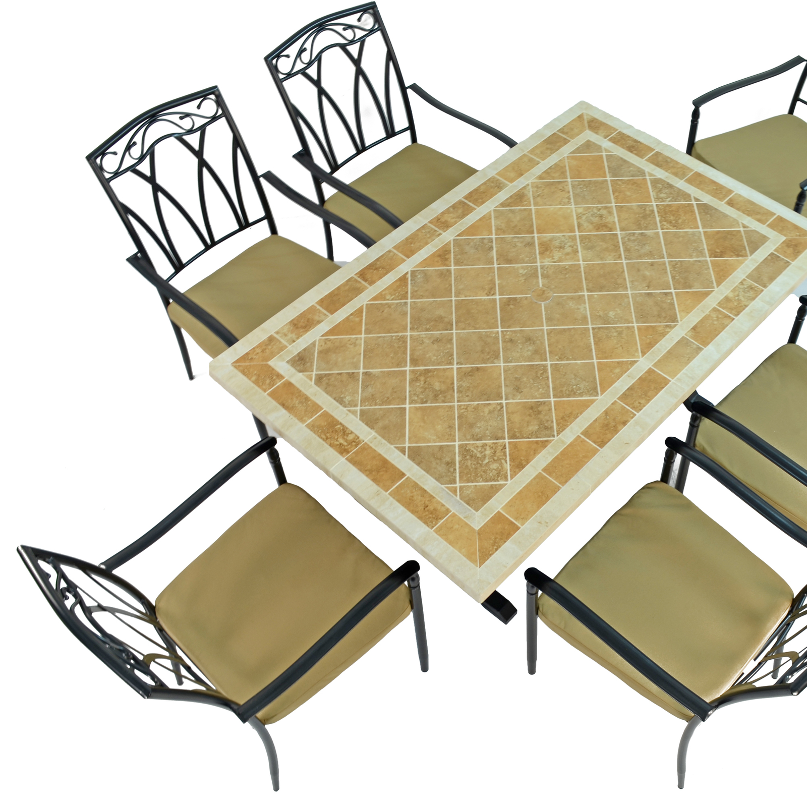 Byron Manor Hampton Dining Table With 6 Ascot Chairs