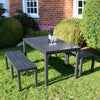 Image of Trabella Roma Rectangular Table With 4 Roma Bench Set Anthracite - Ruby's Garden Boutique