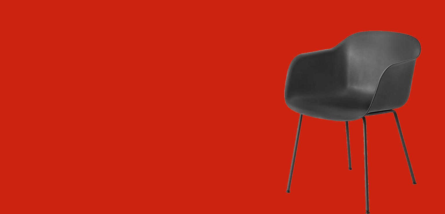 Black Living Room Plastic Chair