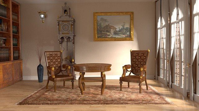 Elegant Brown Wooden Furniture Set