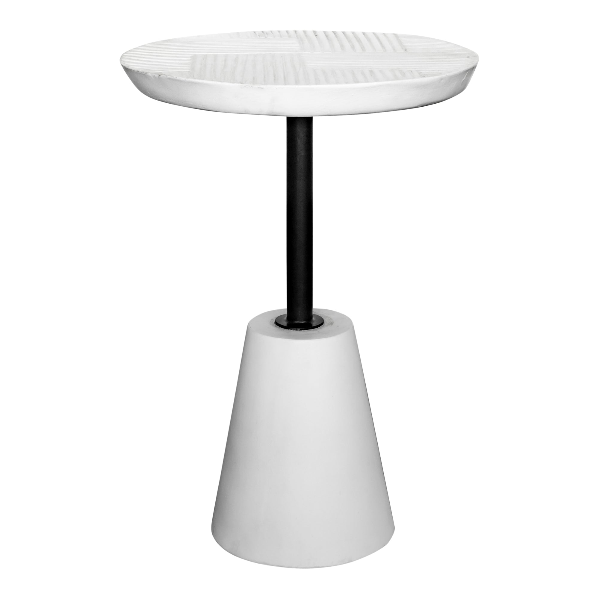 Foundation outdoor accent table, white - Tops-Dress