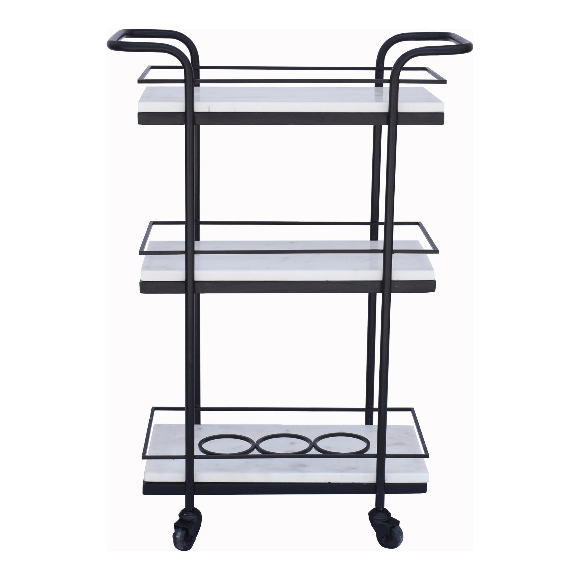 Banswara marble bar cart, white - Tops-Dress