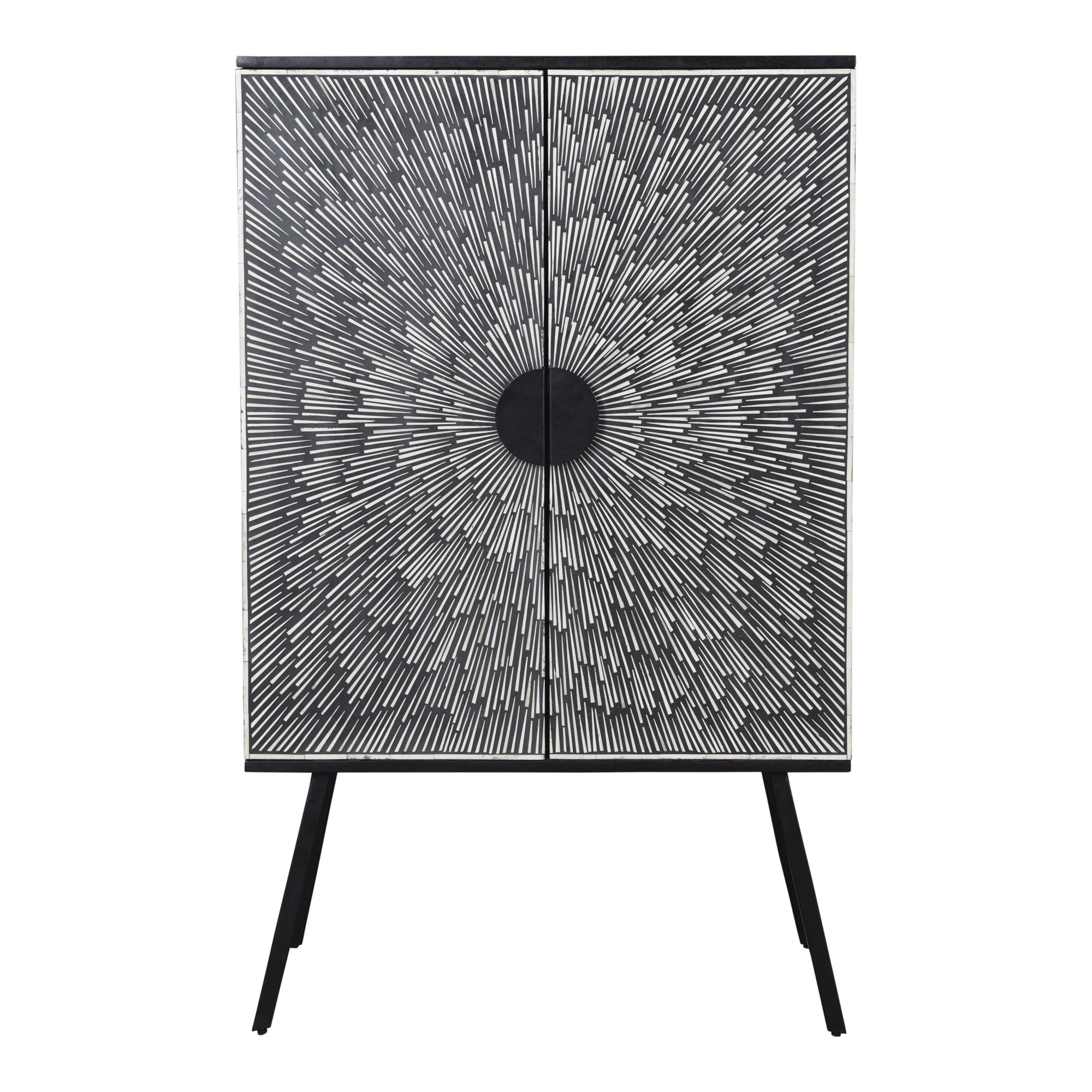 Sunburst wine cabinet, black - Tops-Dress