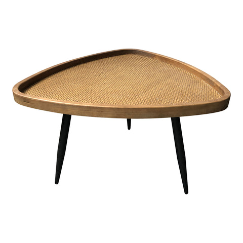 ROLLO RATTAN COFFEE TABLE, Natural - Tops-Dress