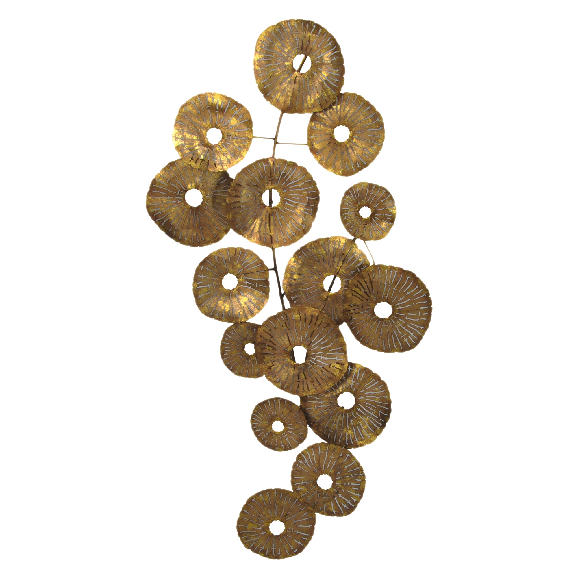 SMALL CIRCLES WALL DÉCOR, Gold - Tops-Dress