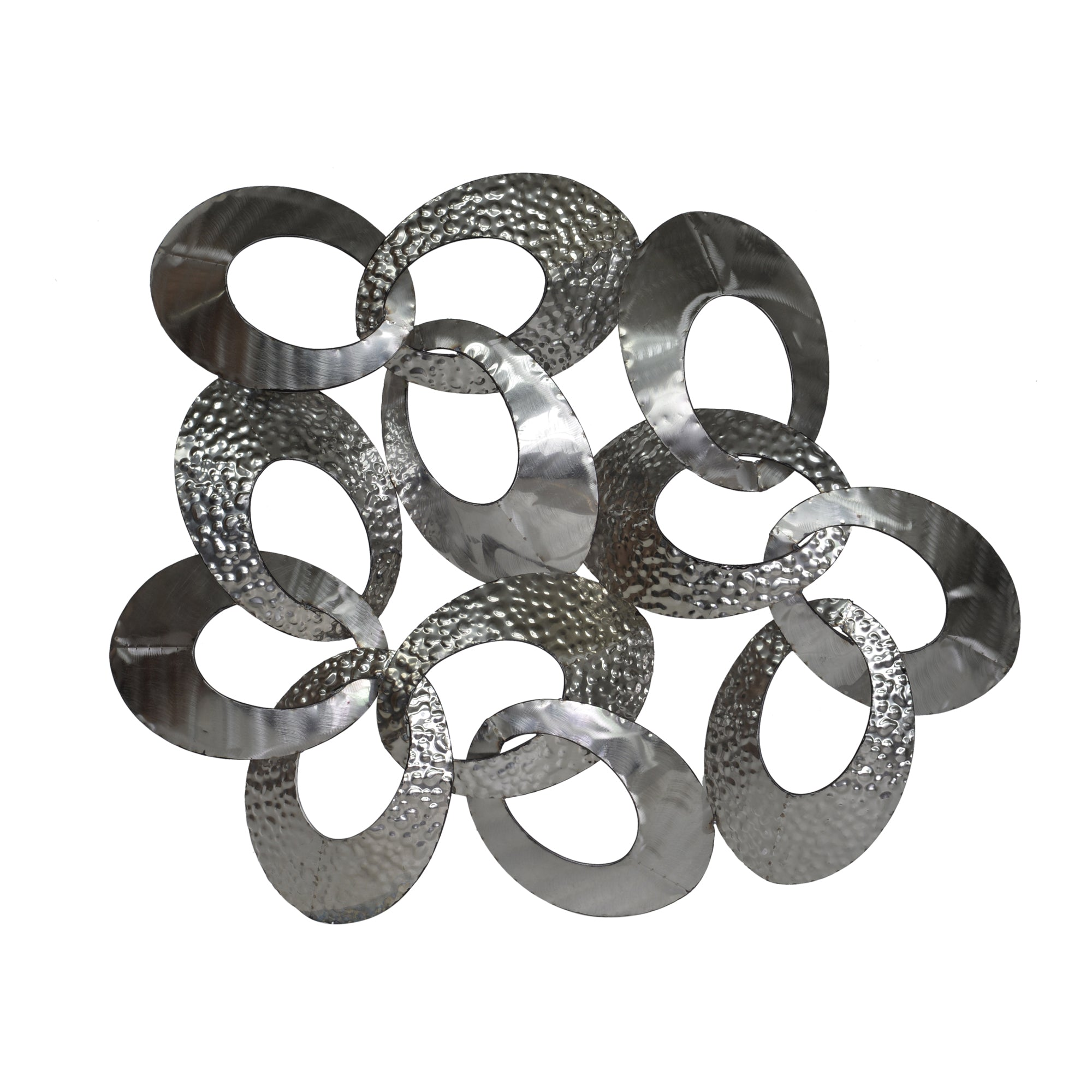 Looped metal wall décor, silver - Tops-Dress