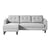 Belagio left facing sofa bed with chaise, grey - Tops-Dress