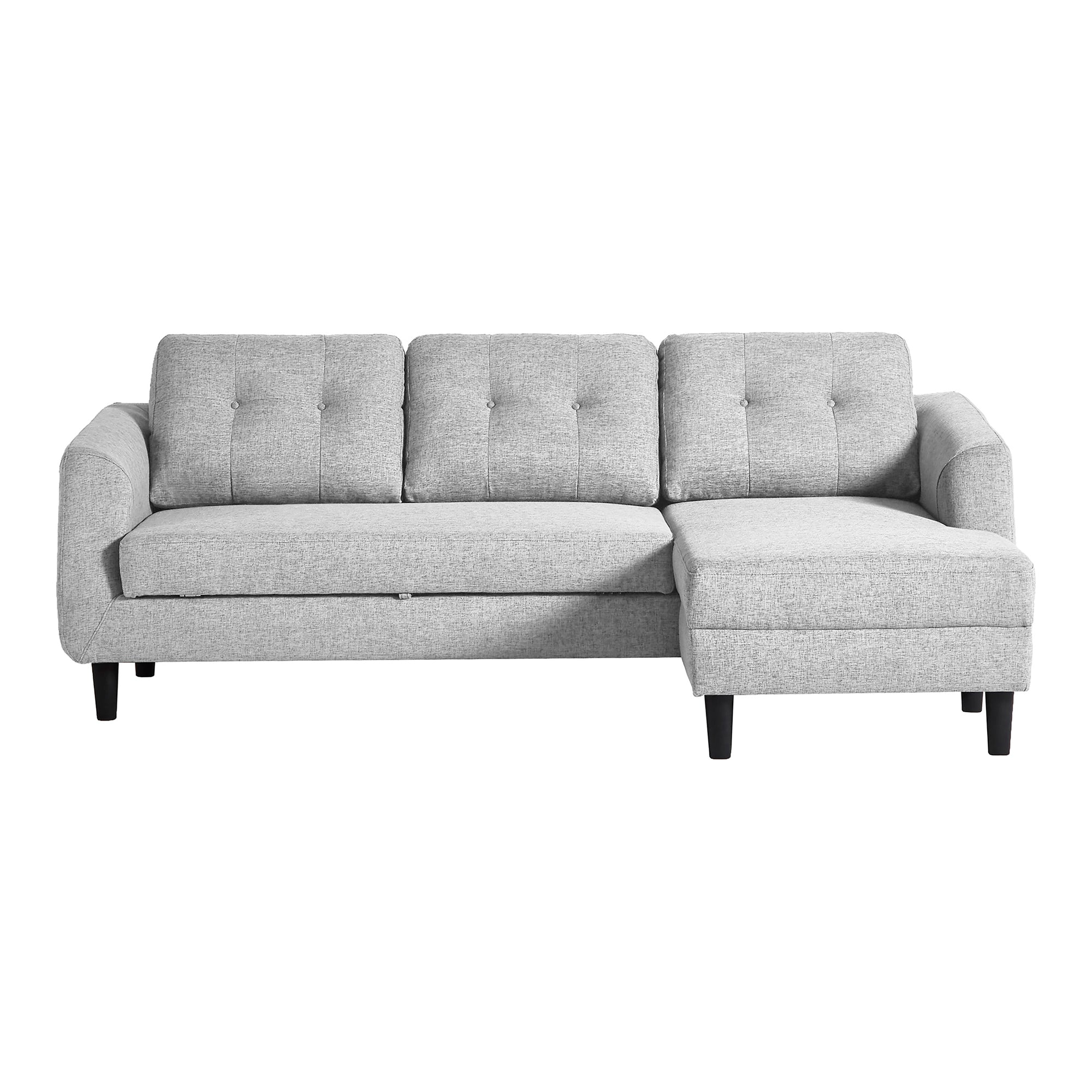 Belagio right facing sofa bed with chaise, grey - Tops-Dress