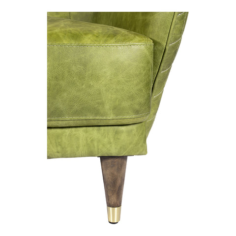 Image of KEATON LEATHER LOVESEAT EMERALD, Green - Tops-Dress