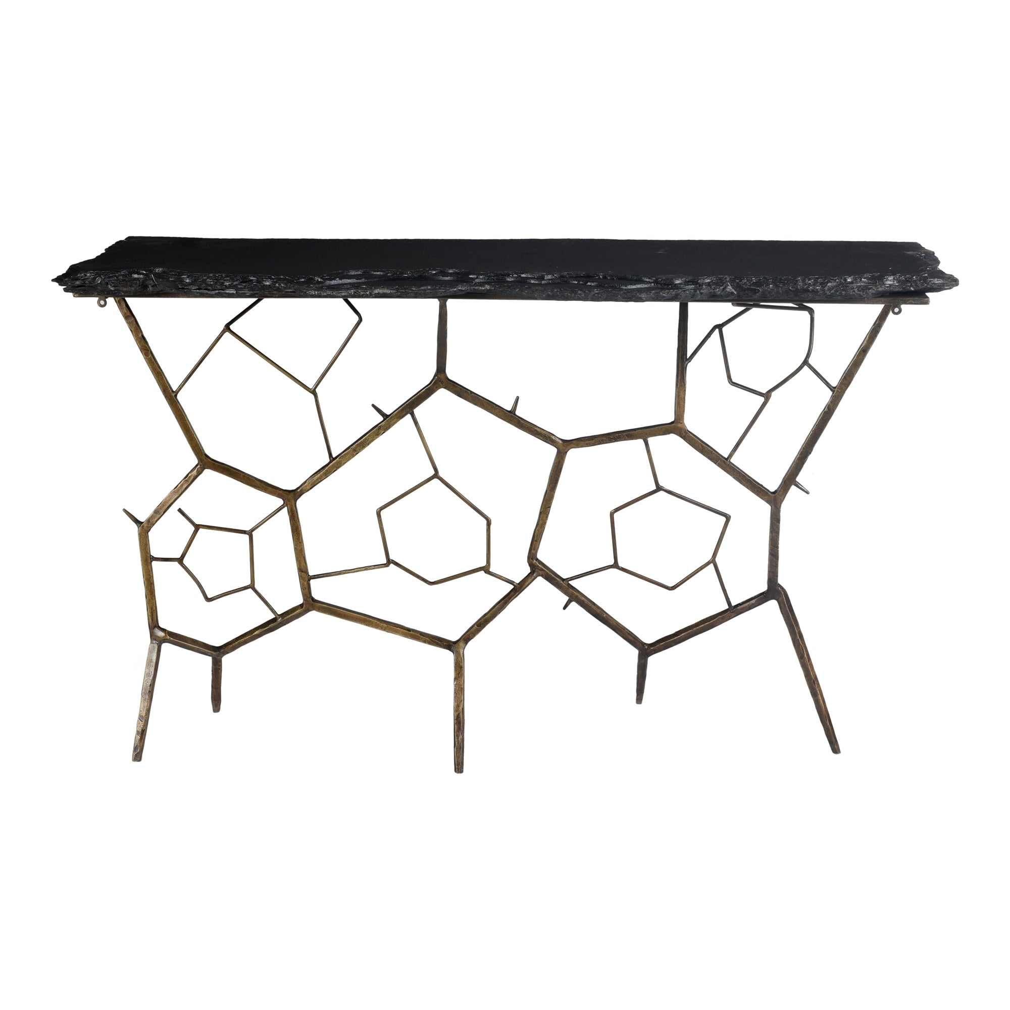Nate slate console table, grey - Tops-Dress