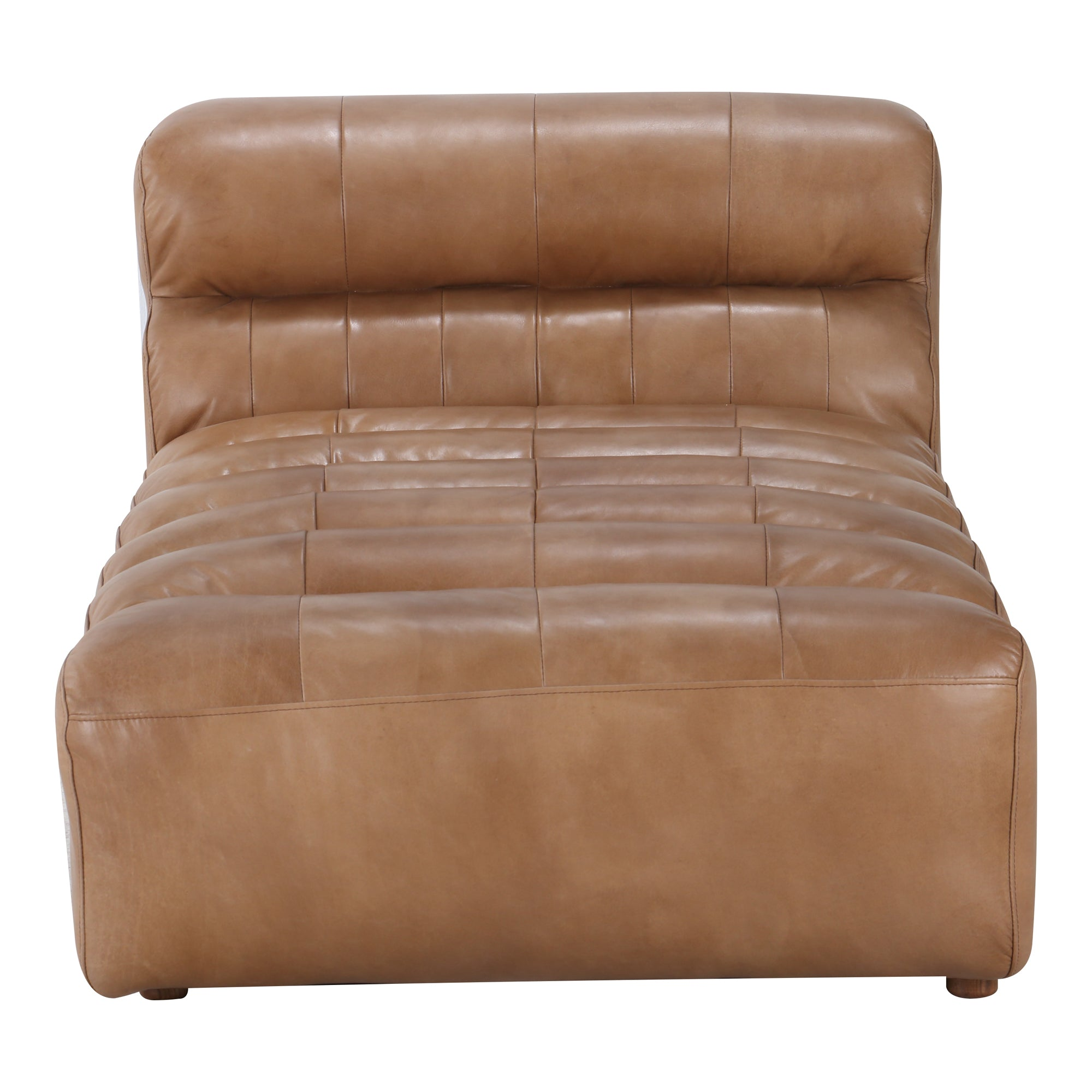RAMSAY LEATHER CHAISE, Brown - Tops-Dress