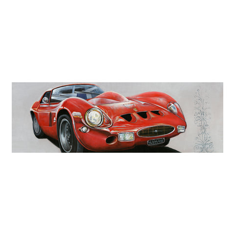 CLASSIC SPORTSCAR RED WALL DÉCOR, Multicolor - Tops-Dress
