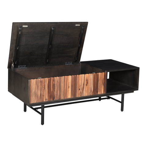 Image of JACKSON STORAGE COFFEE TABLE, Black - Tops-Dress