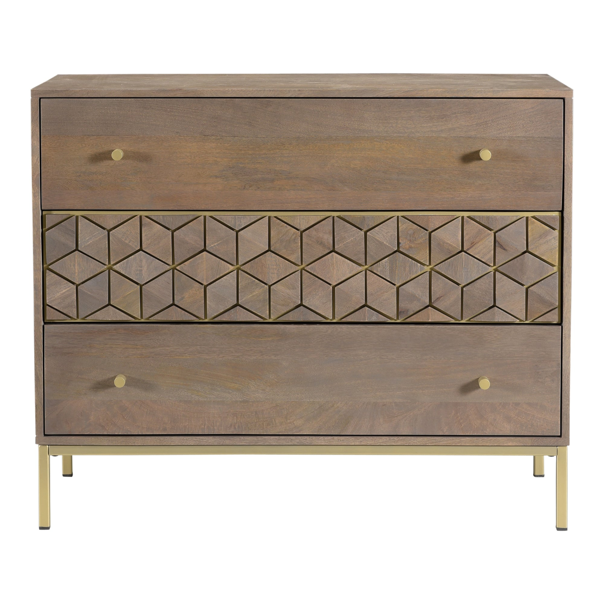 COROLLA DRAWER CHEST, Grey - Tops-Dress