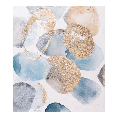 Image of RIVER ROCKS WALL DÉCOR, Multicolor - Tops-Dress