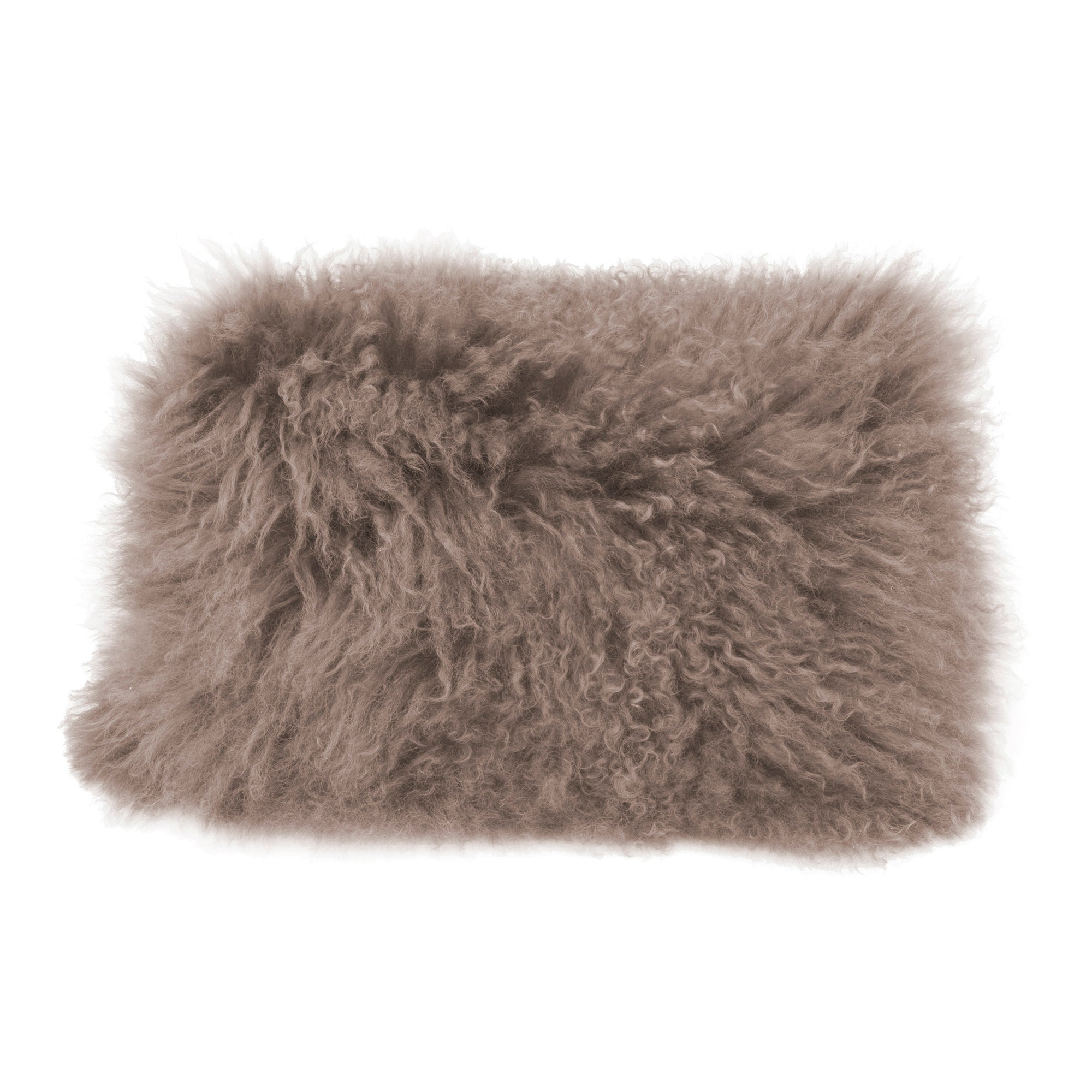Lamb fur pillow, grey - Tops-Dress
