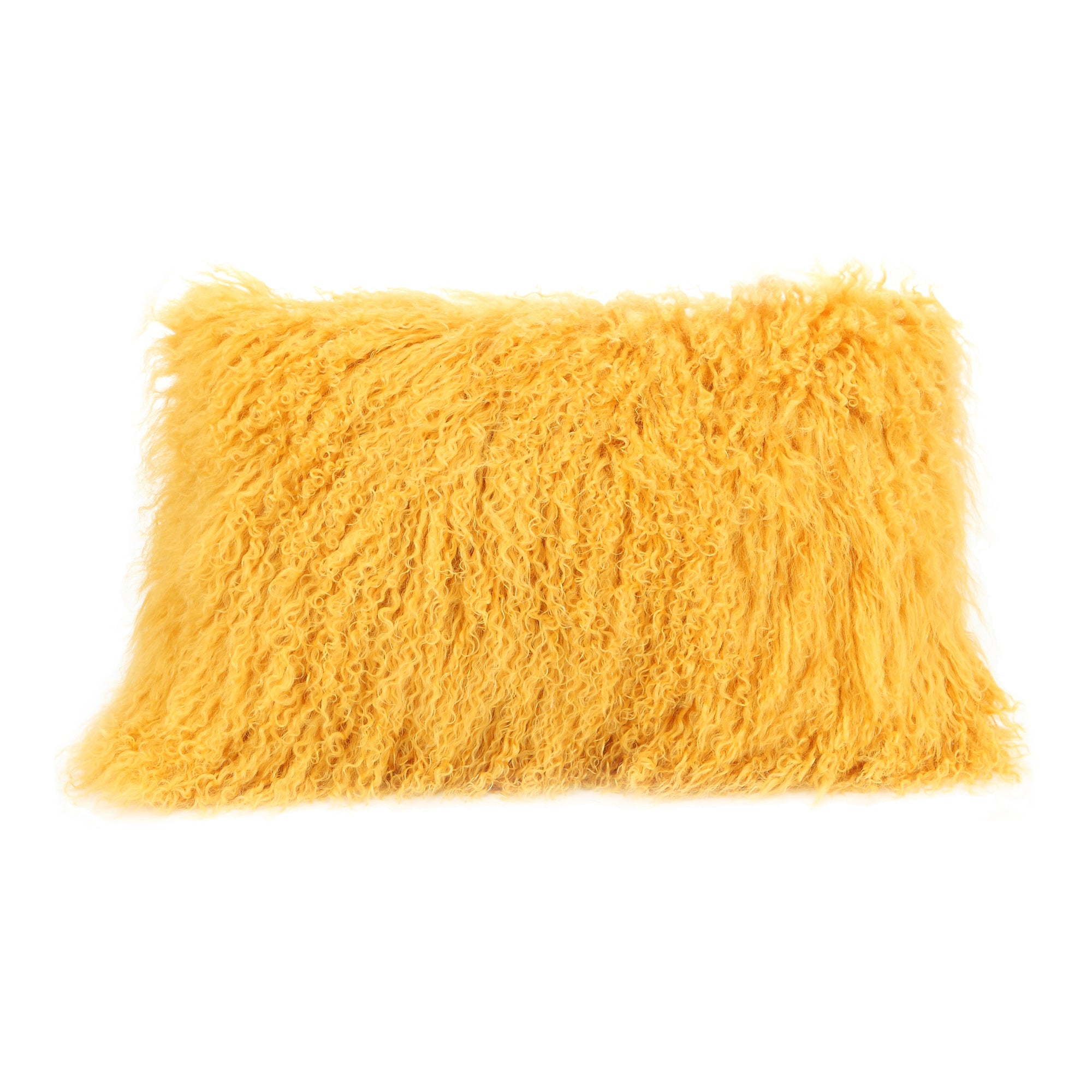 Lamb fur pillow, gold - Tops-Dress