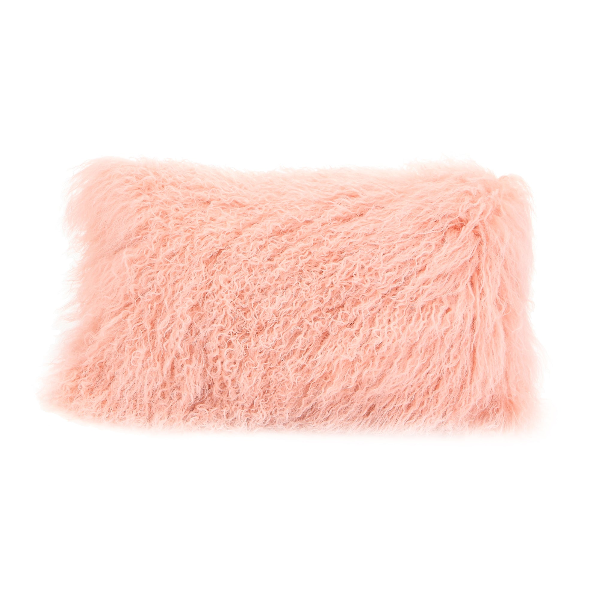 Lamb fur pillow, pink - Tops-Dress