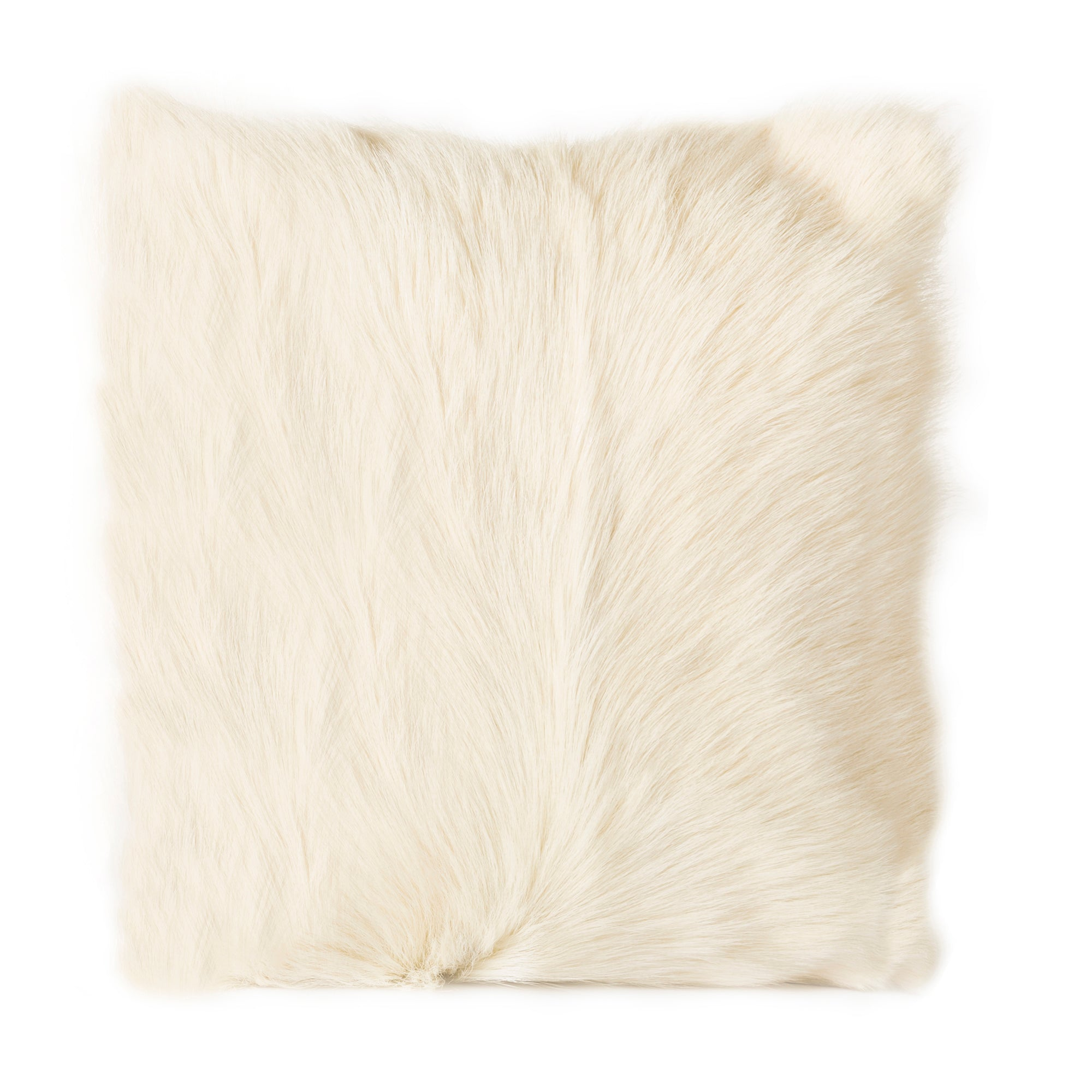 Goat fur pillow, natural - Tops-Dress