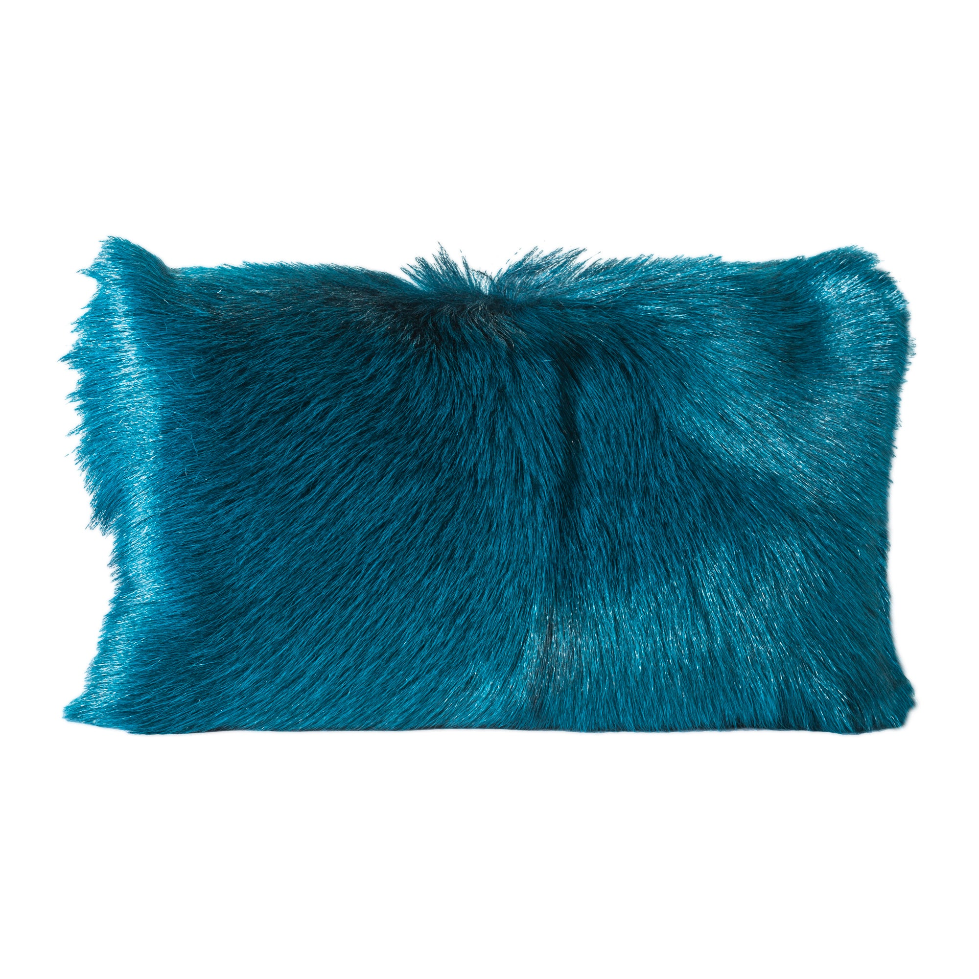 Goat fur bolster, blue - Tops-Dress