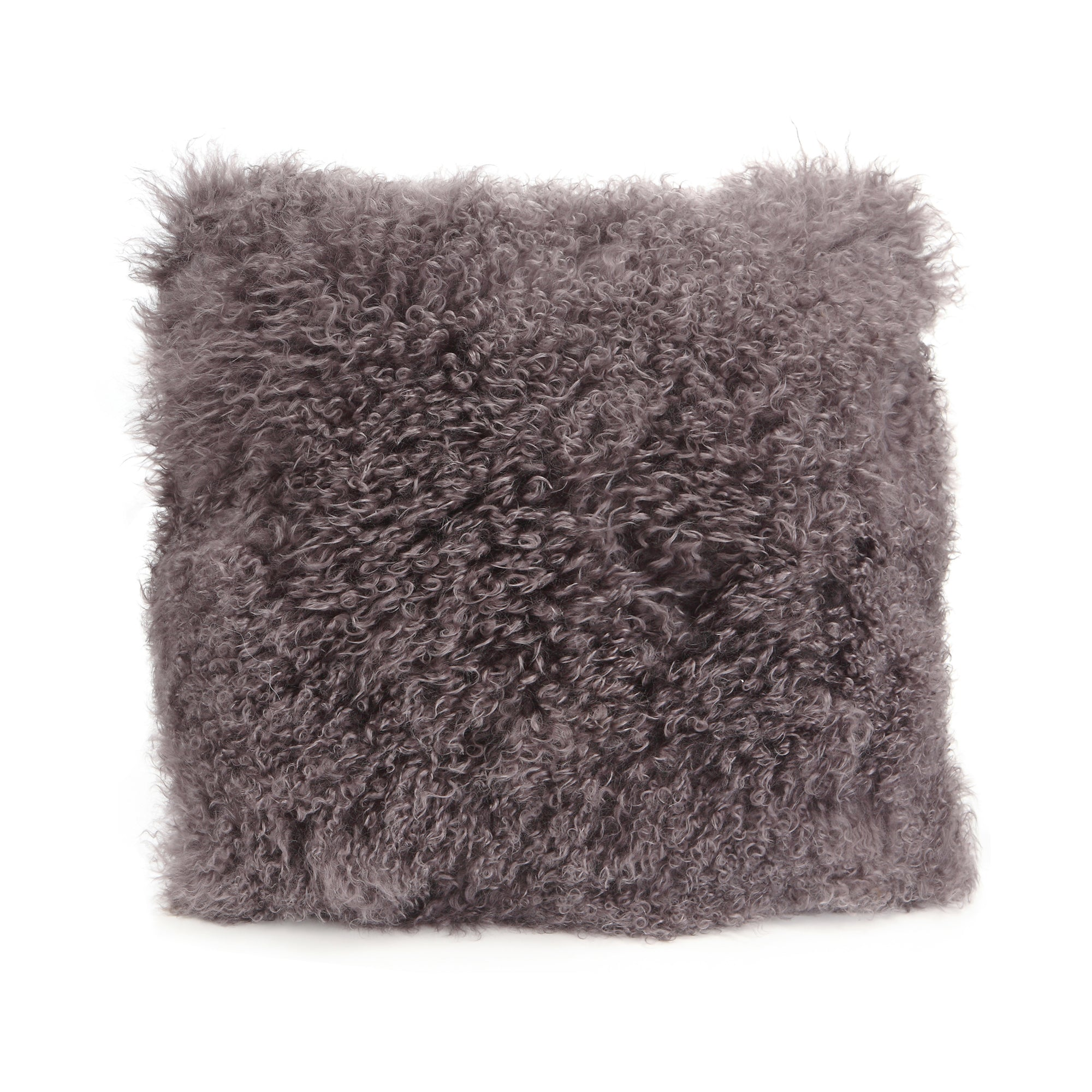 Lamb fur pillow large, grey - Tops-Dress