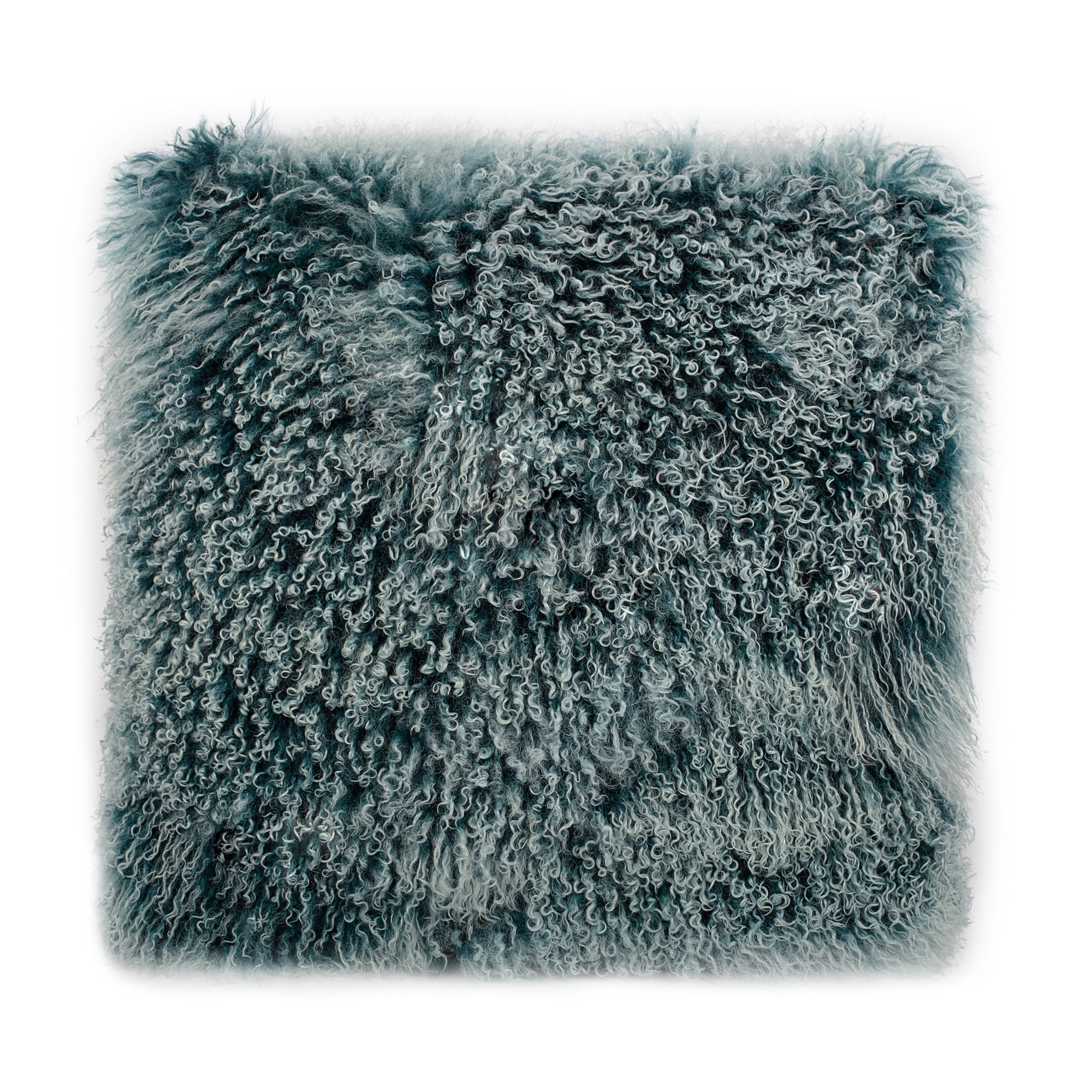Lamb fur pillow large, blue - Tops-Dress