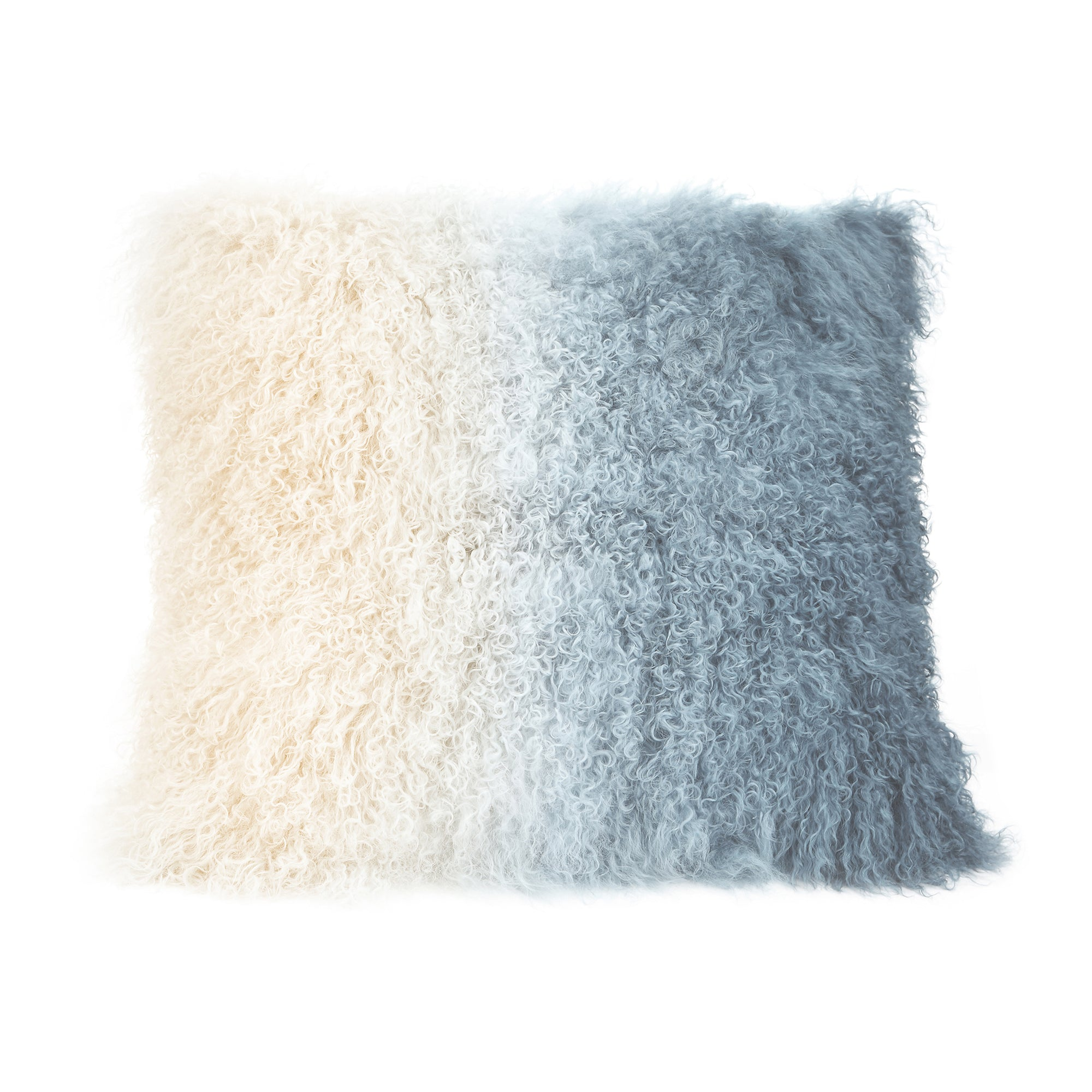 Lamb fur pillow light deep blue spectrum, blue - Tops-Dress