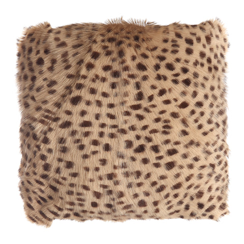 Image of SPOTTED GOAT FUR POUF, White - Tops-Dress