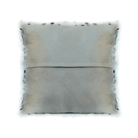 Image of SPOTTED GOAT FUR PILLOW, Grey - Tops-Dress
