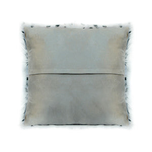 SPOTTED GOAT FUR PILLOW, Grey - Tops-Dress
